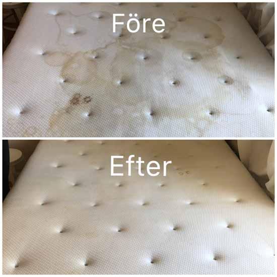 tvatta baddmadrass hemma fore och efter tvatt